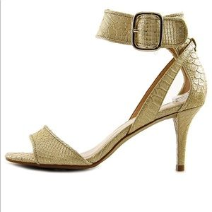 Alfa I Gold Strappy Sandals